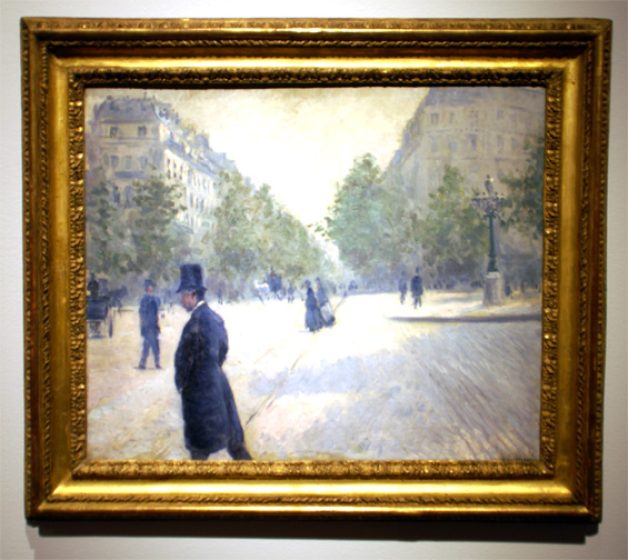 Paris street by Caillebotte