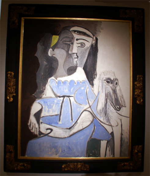 Blue dog by Picasso