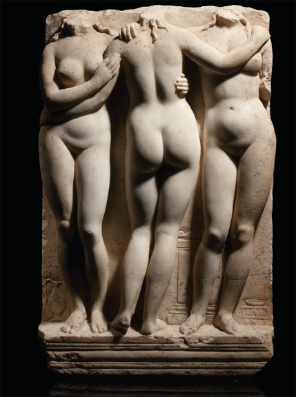 Roman marble relief of the Three Graces