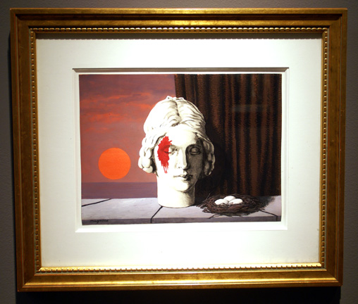 Bloody face by Magritte