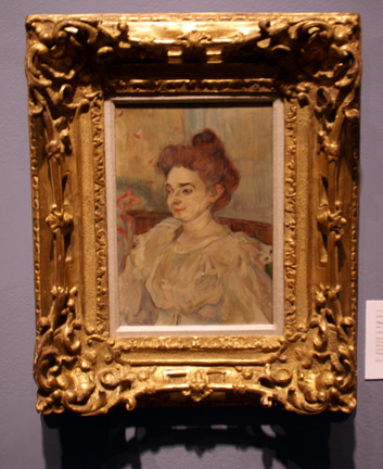 Portrait of a lady by Lautrec