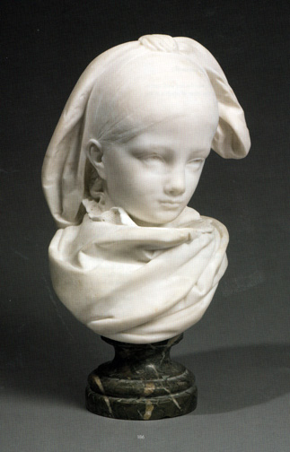 Marble sculpture of a girl by Rodin