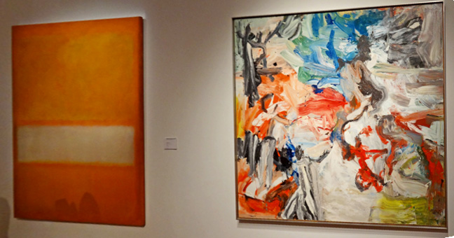 Rothko and De Kooning