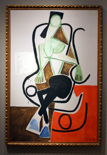 Woman in a rocking chair by Picasso