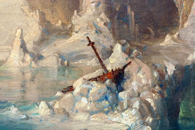 Detail of Icebergs by Church