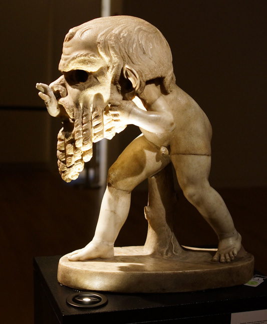 Satyr with mask