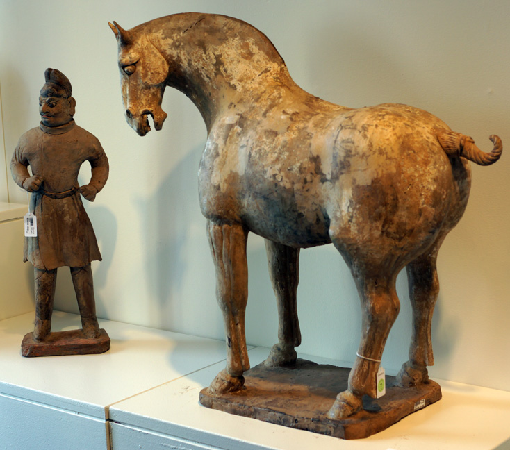 Horse and foreign groom