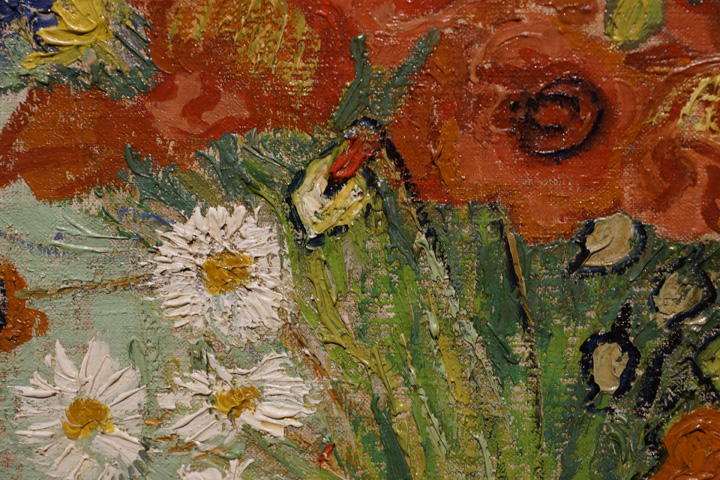 Detail of Van Gogh's flowers