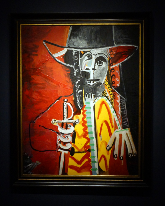 Picasso man with sword