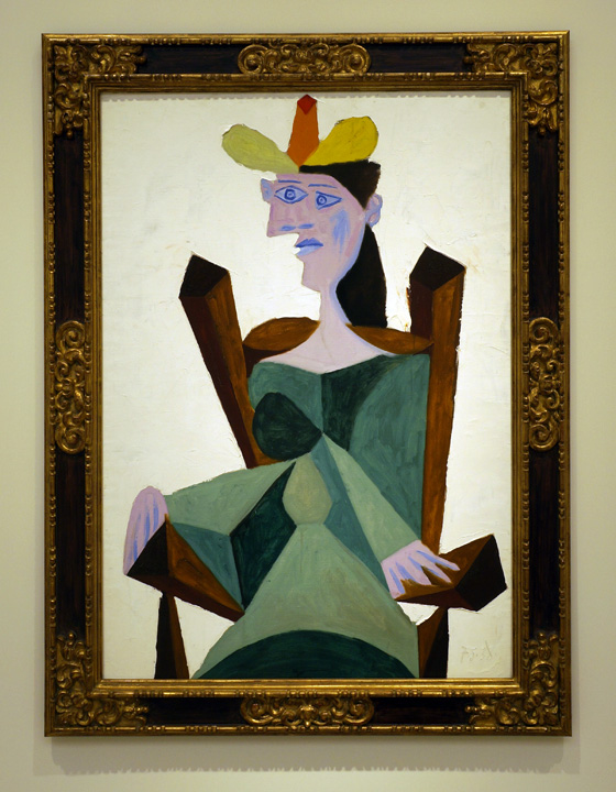 Seated woman by Picasso