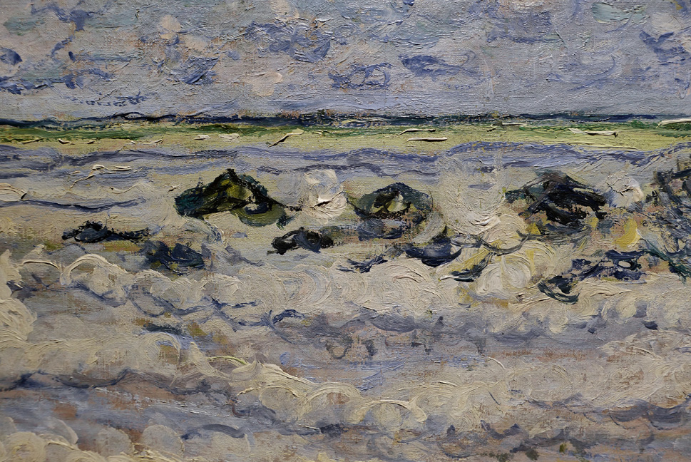 Detail of Monet sea