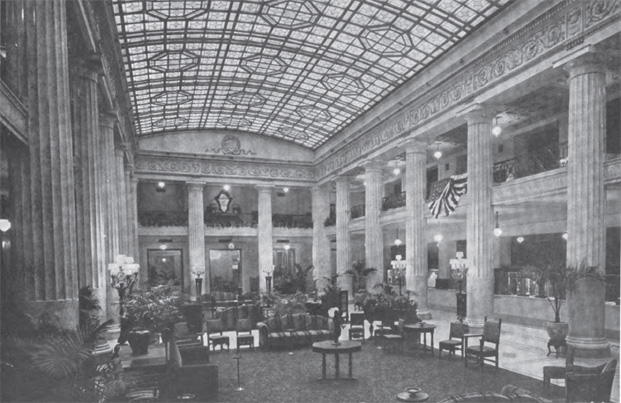 Photograph of lobby in The Architecture Review
