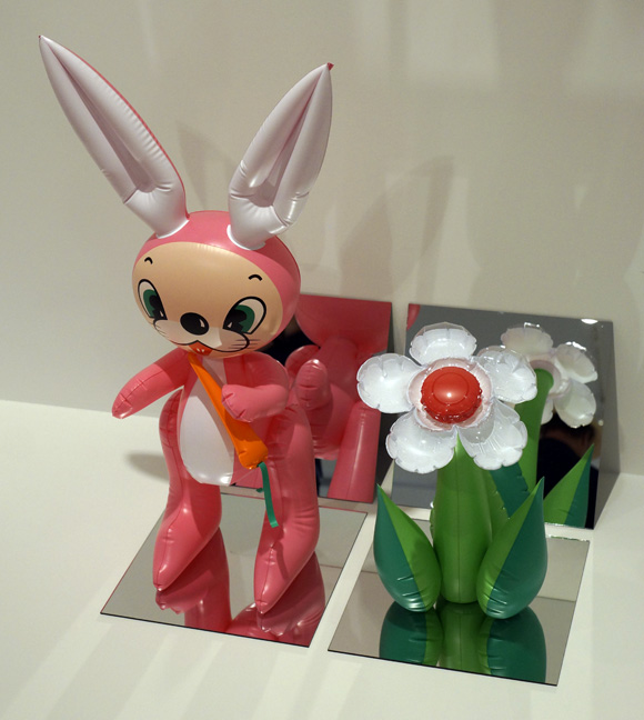 Pink rabbit by Koons