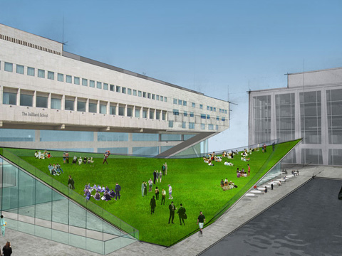 Rendering of tilting lawn