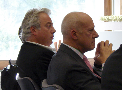 Aby Rosen and Lord Norman Foster listening to testimony
