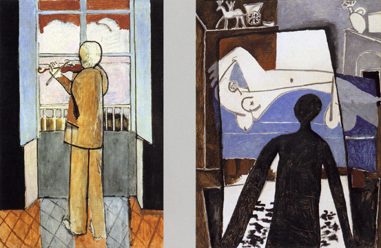 """Violinist at the Window"" by Matisse and ""The Shadow"" by Picasso"