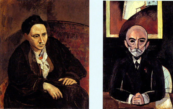 """Gertrude Stein"" by Picasso"" and ""Auguste Pellerin II"" by Matisse"