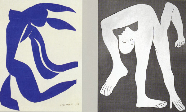 """Flowing Hair' by Matisse and ""Acrobat"" by Picasso"