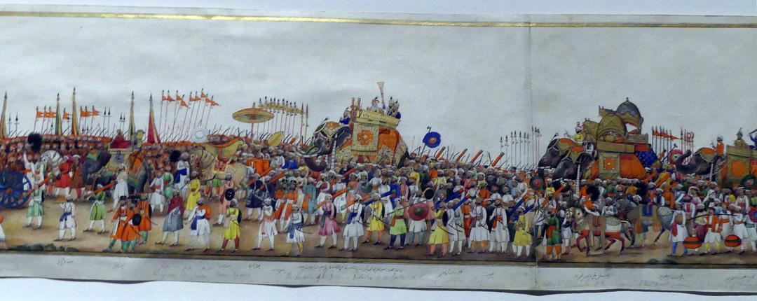 Detail of Procession of the Emperor Akbas Shah II