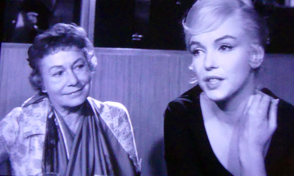 Thelma Ritter, left, and Marilyn Monroe, right