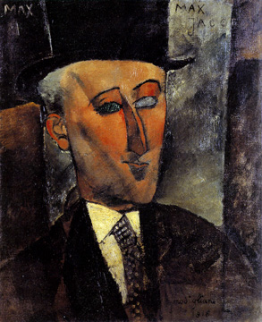 """Portrait of Max Jacob"" by Amedeo Modigliani"