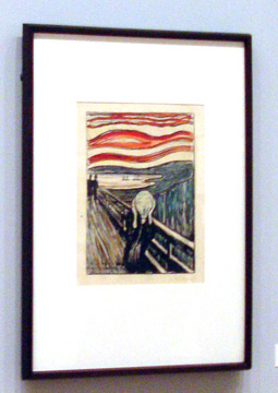 """The Scream,"" lithograph by Munch"