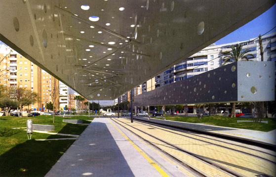 Tram stop Alicante, Spain, by Subarquitectura