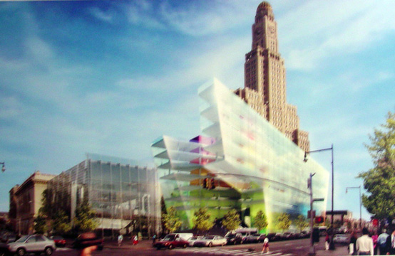 Rendering of Brooklyn Public Library for the Visual and Performing Arts
