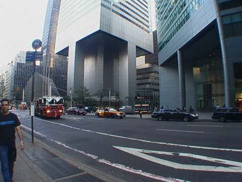 Large triangular plaza at 599 Lexington Avenue opens up views of Citicorp and has great subway entrance that complements both skyscrapers