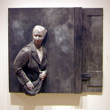 """Helen Against Wall with Door"" by George Segal"