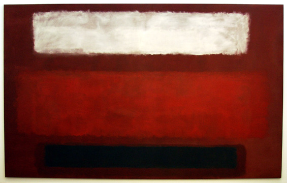 """No. 9 (White and Black on Wine)"" by Rothko"