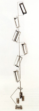 """Column of Six Parallepipeds"" by Rickey"
