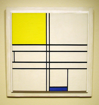 """Composition in White, Blue and Yellow:C"" by Mondrian"