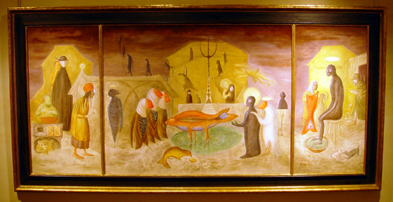"""Nativity (triptych)"" by Leonora Carrington"
