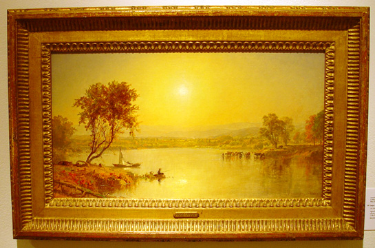 """On the Susquahana River,"" by Cropsey"