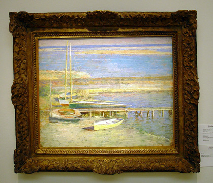 """Boats at a Landing"" by Theodore Robinson"