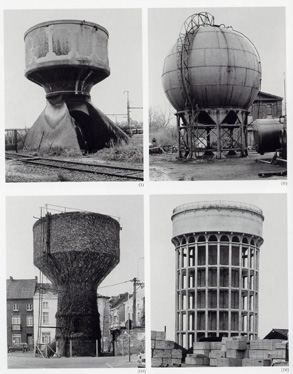 Water tower photographs by Bernd & Hilla Becher