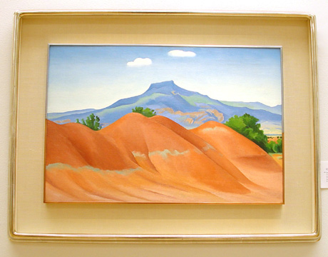 """Red Hills with Pedernal, White Clouds"" by O'Keeffe"