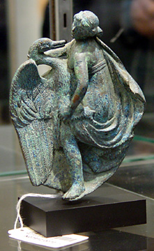 """Leda and the swan"" bronze"