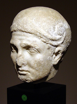"""Head of a Warrior"" Roman marble"