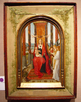 """Virgin and Child Enthroned with Singing Angels"" Bruges School"