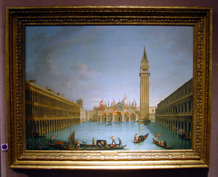 """View of the Flooded Piazzo San Marco, Venice"" by Vincenzo Chilone"