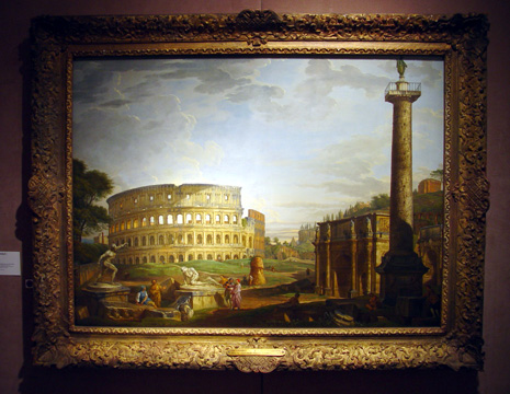 """Capriccio view of the Colisseum and the Arch of Constantine..."" by Panini"