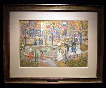 """Courtyard, West End Library, Boston"" by Prendergast"