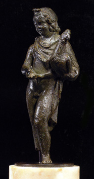 Late Hellenistic or Roman bronze of a child