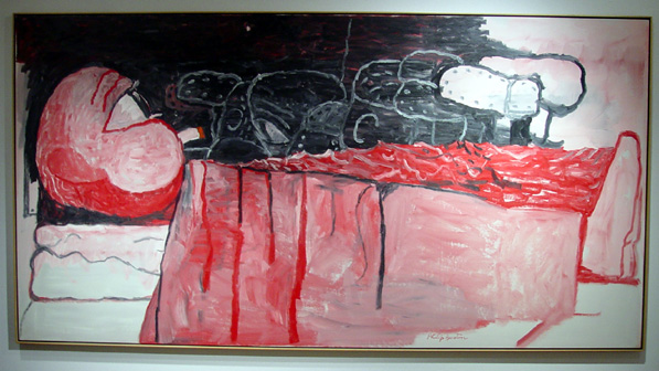 """Waking Up"" by Philip Guston"