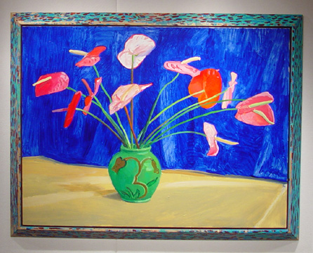 """Antheriums"" by David Hockney"