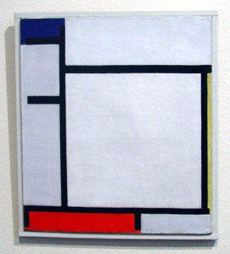 """Composition with Blue, Yellow, Red and Gray"" by Mondrian"