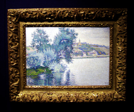 """Herblay, Temps gris, Saules"" by Signac"