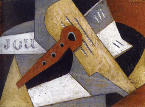 """Nature morte au journal et instruments"" by Lipchitz"